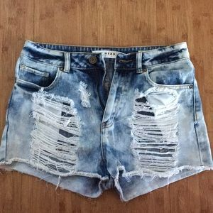 PACSUN DENIM MOM SHORTS